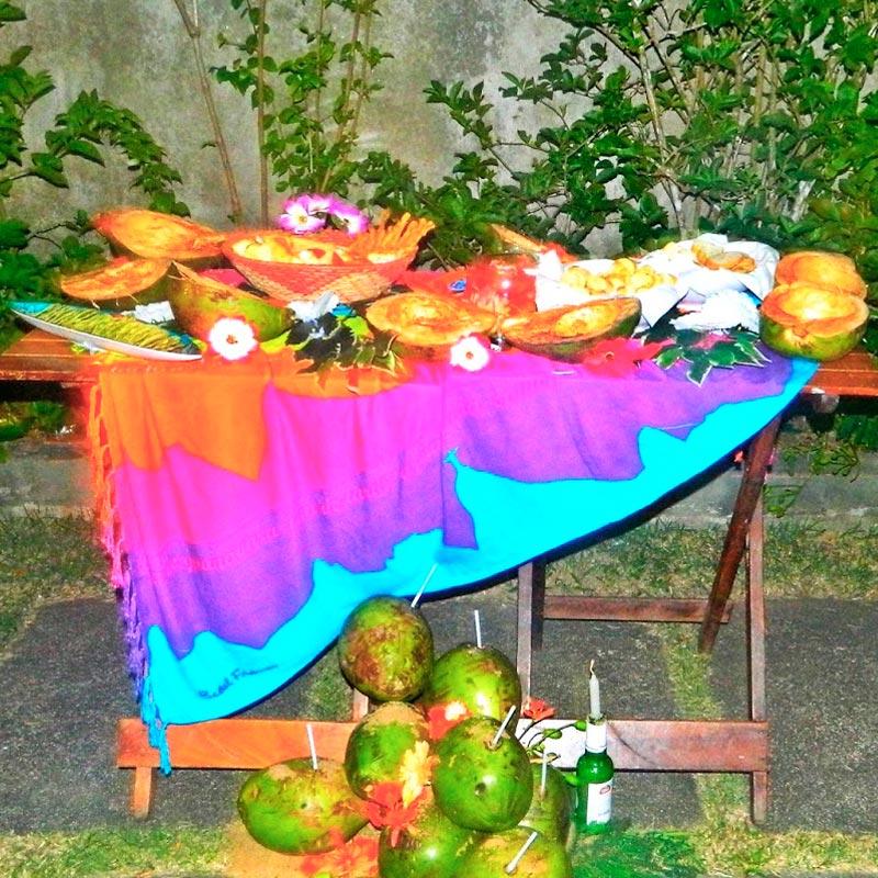 トロピカルバナナ柄【ブラジルカンガ】RIO DE JANEIROパレオ
