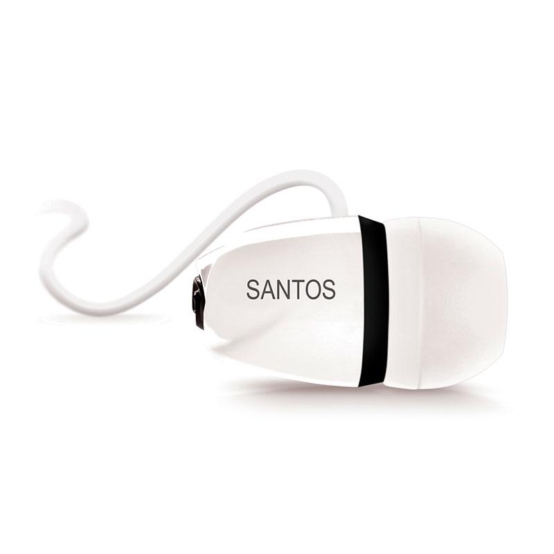 サントスFC公式イヤホン SANTOS ブラック×ホワイト