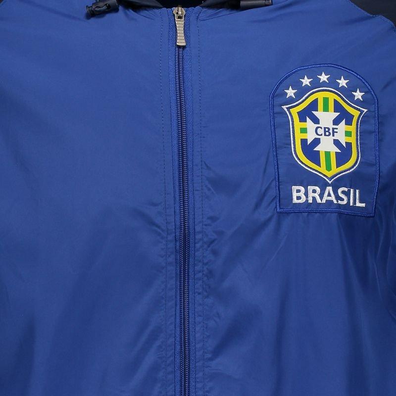サッカーブラジル代表公式 フード付きウィンドブレーカー ブルー