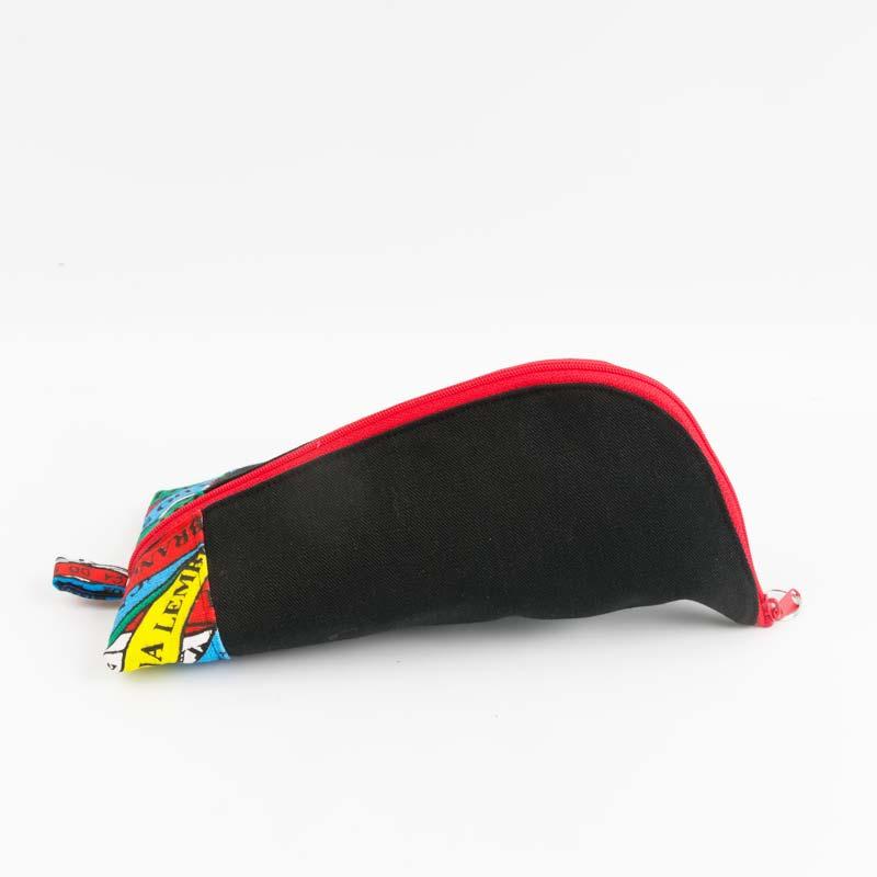 ボンフィン柄×ブラックデニムペンケース