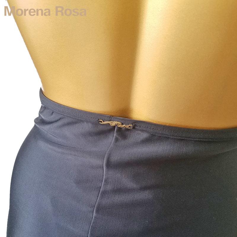 ■20%OFF■【Morena Rosa】モレナローザ フロントVオープンコードワンピース水着 ブラック