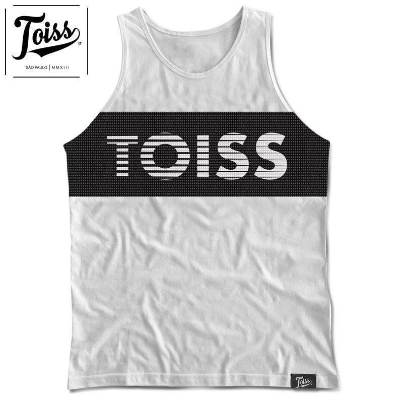 【TOISS】ポイントメッシュロゴタンクトップ 【ネイマールブランド】| ホワイト