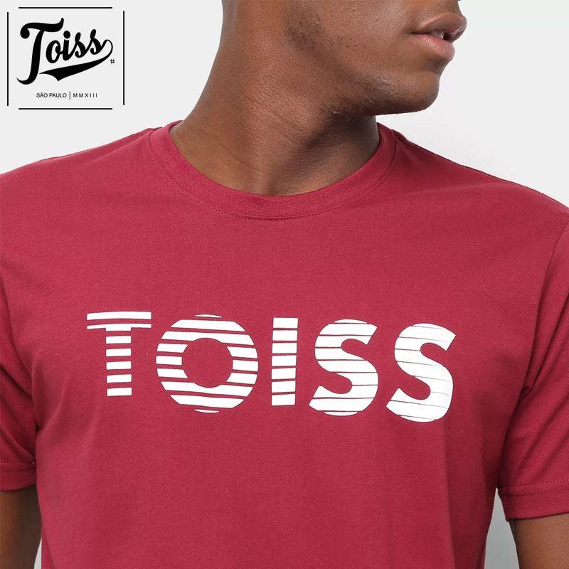 【TOISS】トイスボーダーロゴTシャツ ネイマールプライベート愛用  | ボルドー