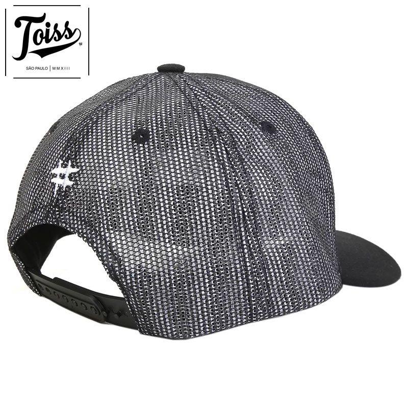 【TOISS】トイス#パッチ メッシュキャップ スナップバック ブラック ネイマールブランド