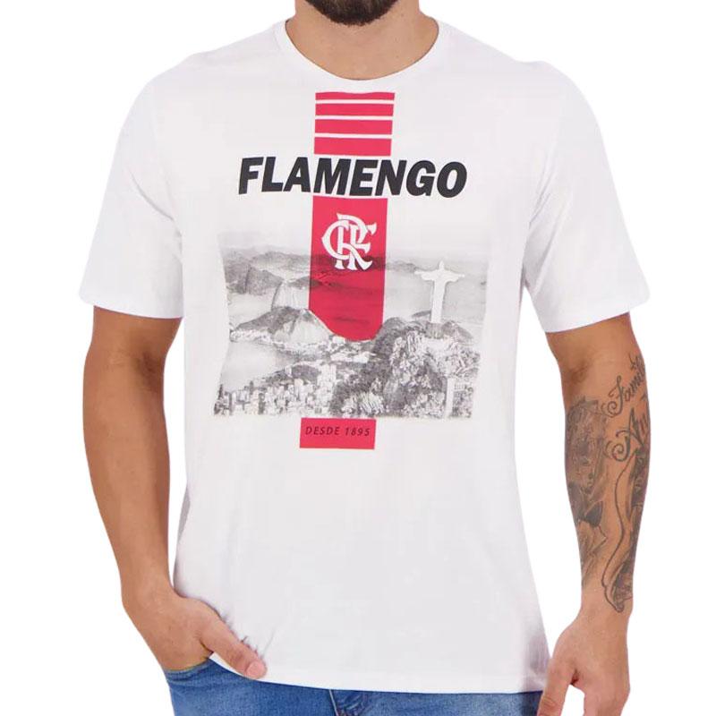 フラメンゴ公式Tシャツリオデジャネイロ風景デザイン【FLAMENGO】ホワイト