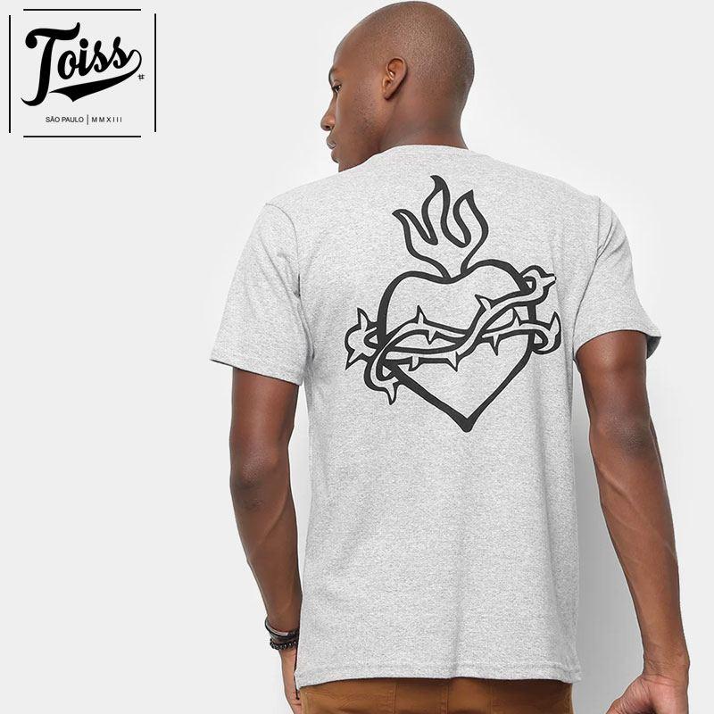 【toiss】トイストライバルハートTシャツ SAGRADO CORACAO  | グレー