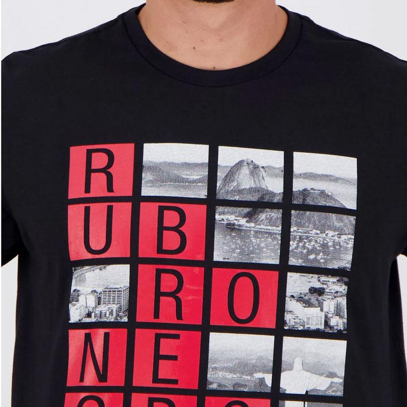 フラメンゴ公式TシャツRUBRO NEGROリオデザイン【FLAMENGO】ブラック