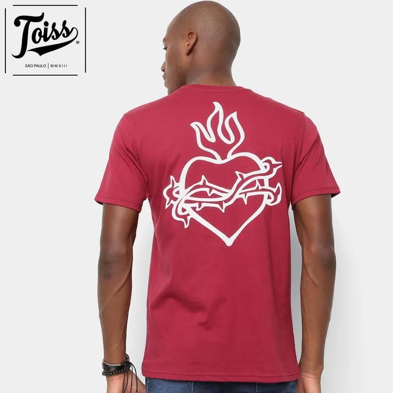 【toiss】トイストライバルハートTシャツ SAGRADO CORACAO  | ボルドー