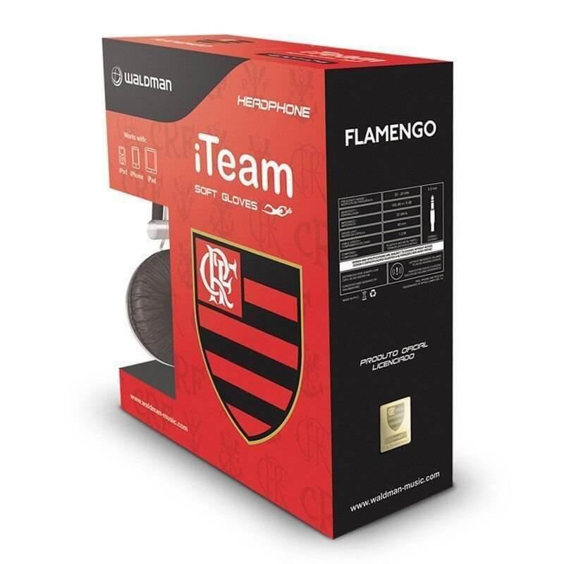 フラメンゴ公式ヘッドホン 箱入り FLAMENGO   ブラック×レッド
