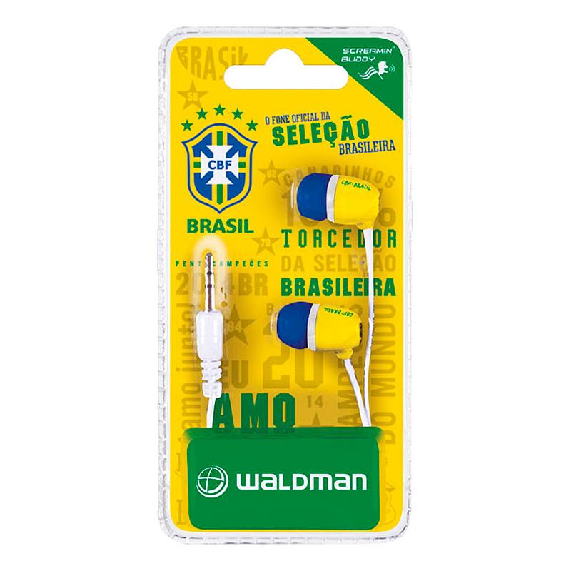 イヤホン【ブラジル代表公式グッズ】iPhone,iPad,iPod対応