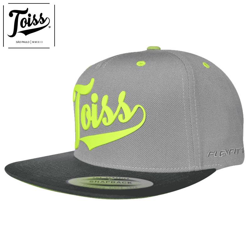 【TOISS】トイスロゴスナップバックキャップ|ネイマール愛用【トイスキャップ】グレー