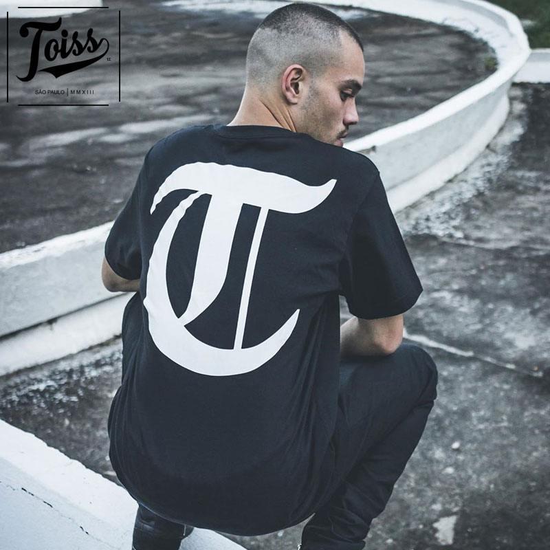 【TOISS】TロゴTシャツ ネイマール愛用ブランド| ブラック