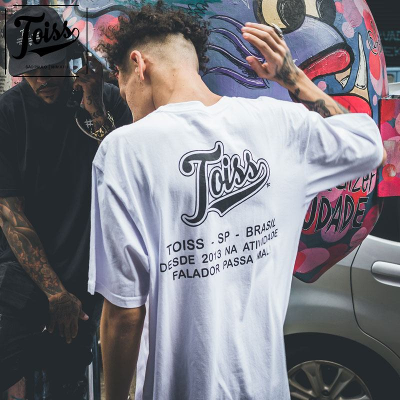 【TOISS】#レジェンダバックプリントTシャツ ホワイト ネイマールブランド