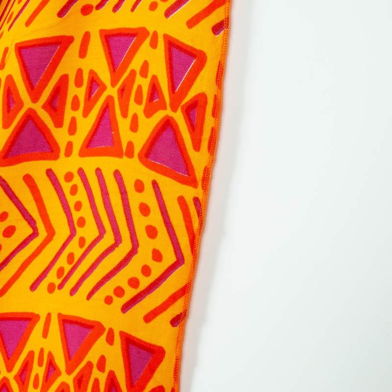 エスニックネイティブ柄【ブラジルカンガ】大判クロス オレンジマルチ