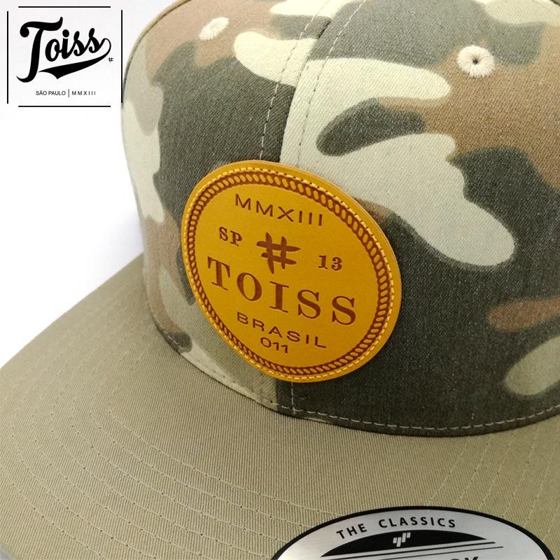 【TOISS】レザー調ロゴワッペン迷彩キャップ【ネイマール愛用】|カモフラ