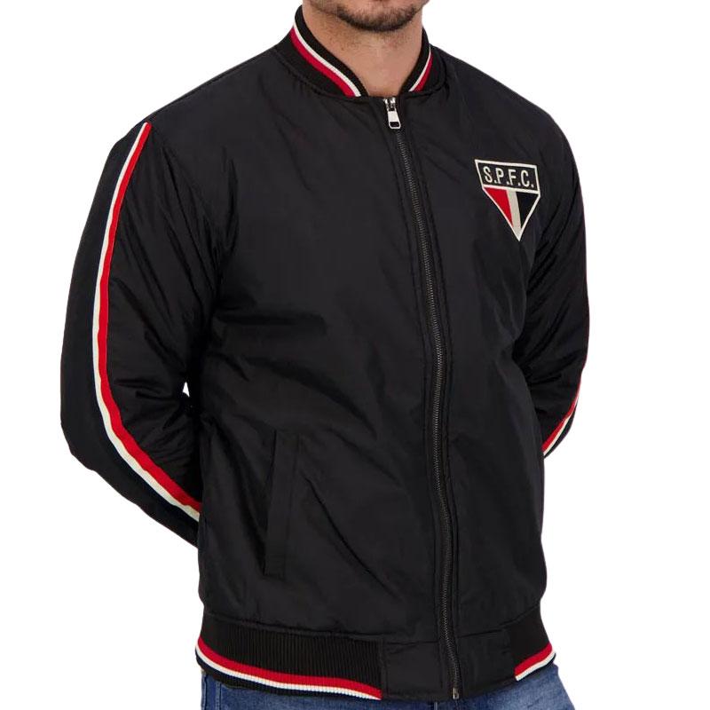 サンパウロFC公式ジャケット【SAO PAULO FC】 ブラック×レッド