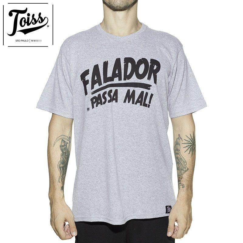 【TOISS】トイス スラングTシャツ FALADOR PASSA MAL  | グレー