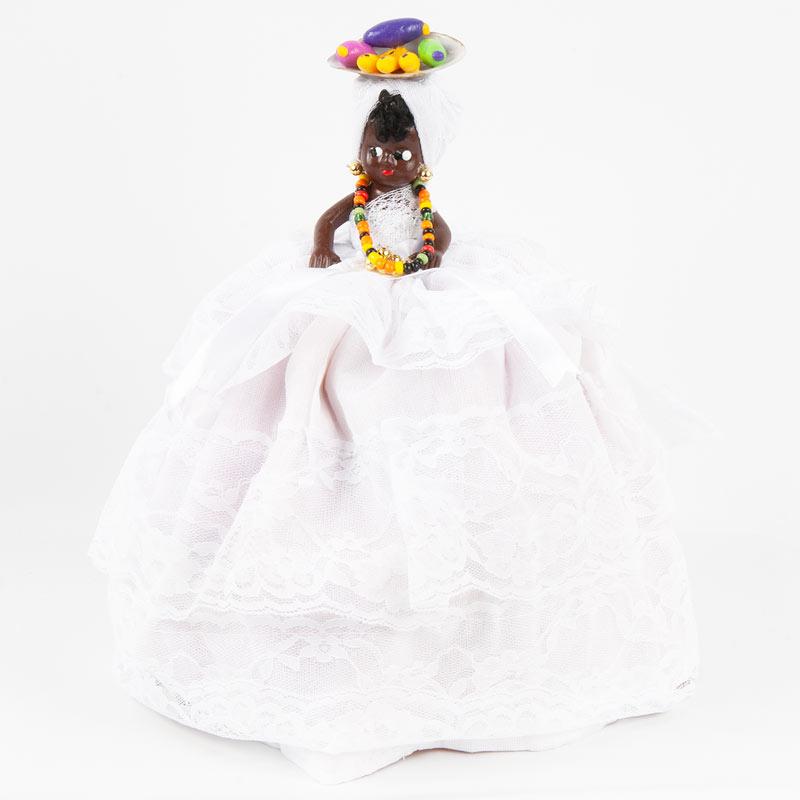 【バイアーナ人形】2wayブラジリアンドール トロピカル花柄 ピンク×ホワイト
