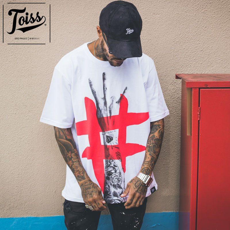 【TOISS】トイス#ハンドデザインTシャツ ホワイト ネイマールブランド