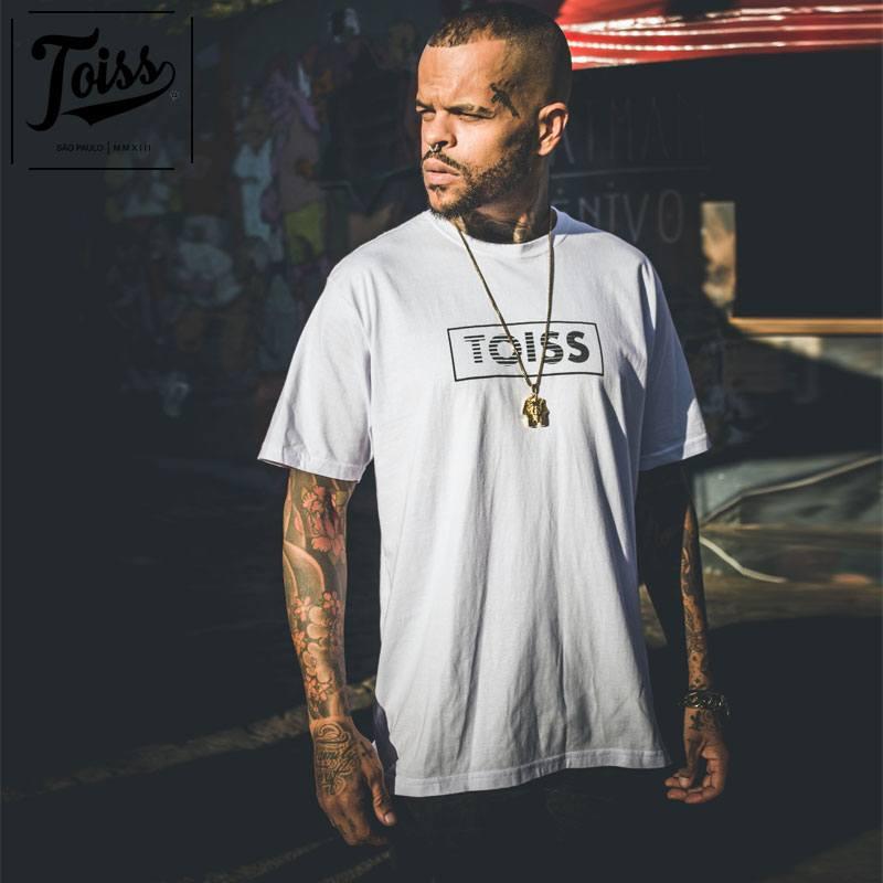 【TOISS】BOXボーダーロゴTシャツ ホワイト ネイマールブランド