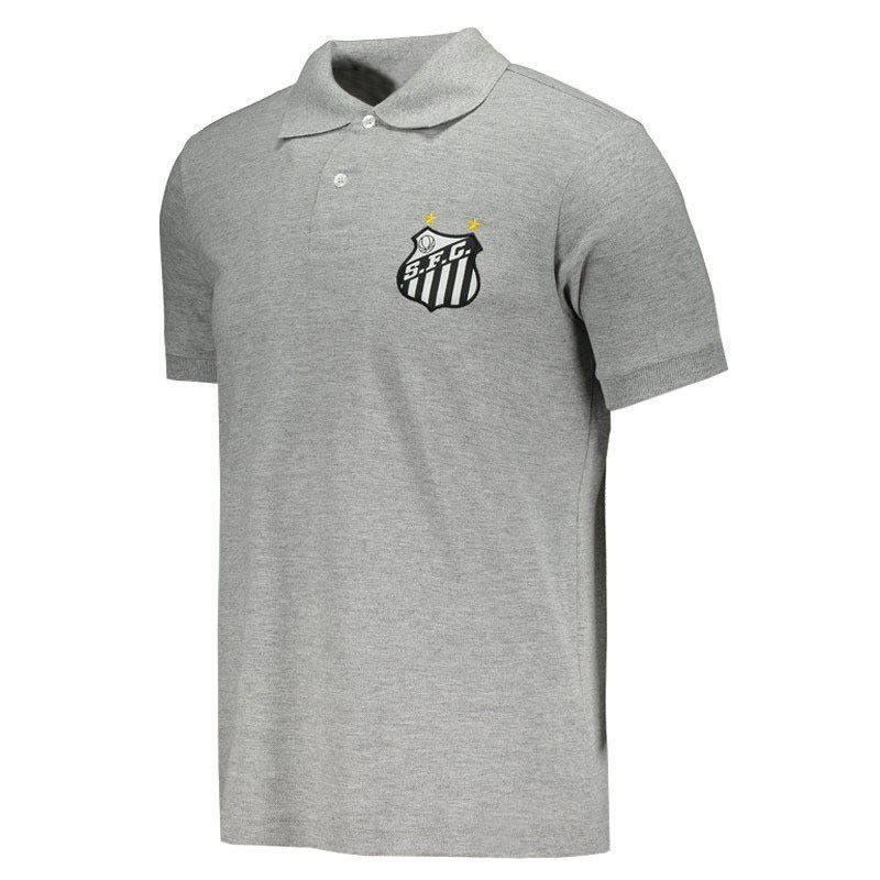 サントスFC公式エンブレムポロシャツ【SANTOS】|グレー