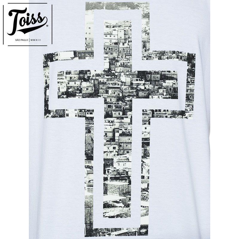 【TOISS】トイス ファベーラクロスデザインTシャツ CRUZ | ホワイト