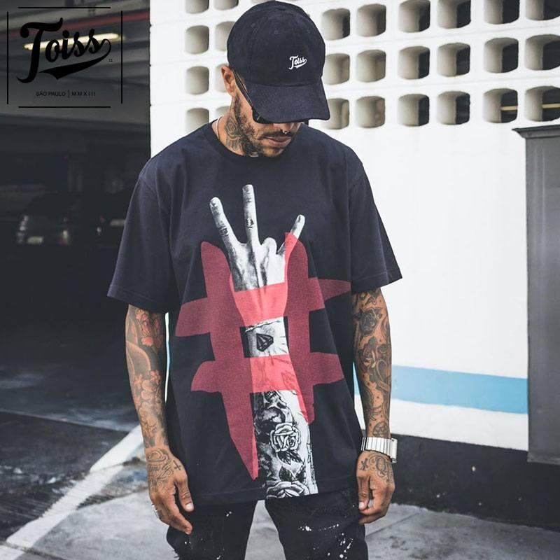 【TOISS】トイス#ハンドデザインTシャツ ブラック ネイマールブランド