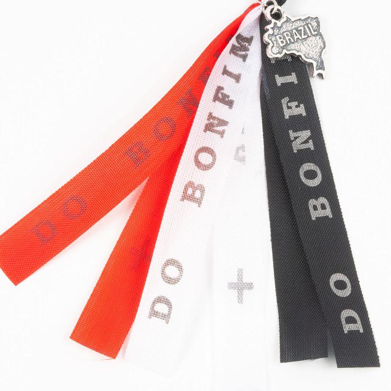ボンフィンキーホルダー【赤×白×黒】お守り