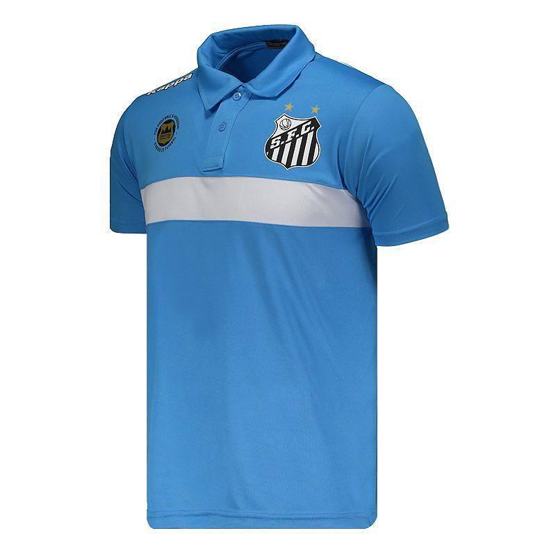 サントスFC公式襟付きTシャツ【SANTOS】|ライトブルー