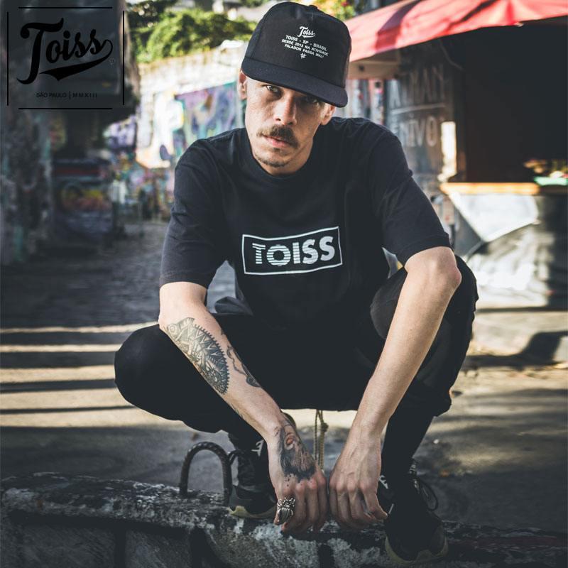 【TOISS】BOXボーダーロゴTシャツ ブラック ネイマールブランド