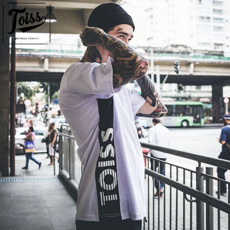 【TOISS】サイドボーダーロゴTシャツ ホワイト ネイマールブランド