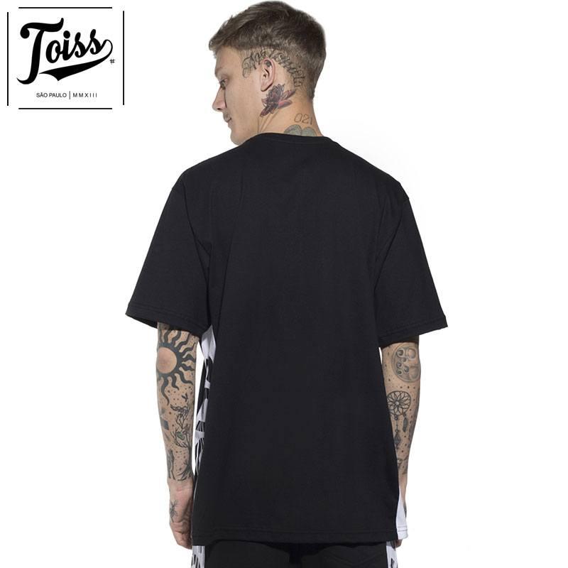 【TOISS】サイドボーダーロゴTシャツ ブラック ネイマールブランド
