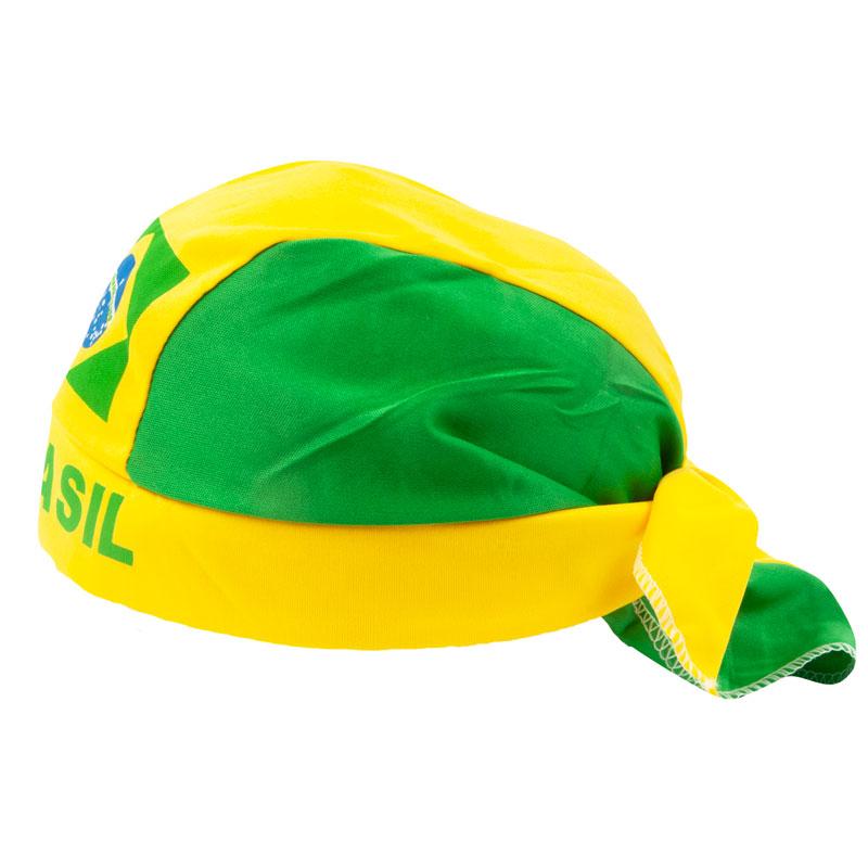 ブラジルカラーデザイン帽子 ドゥーラグタイプ