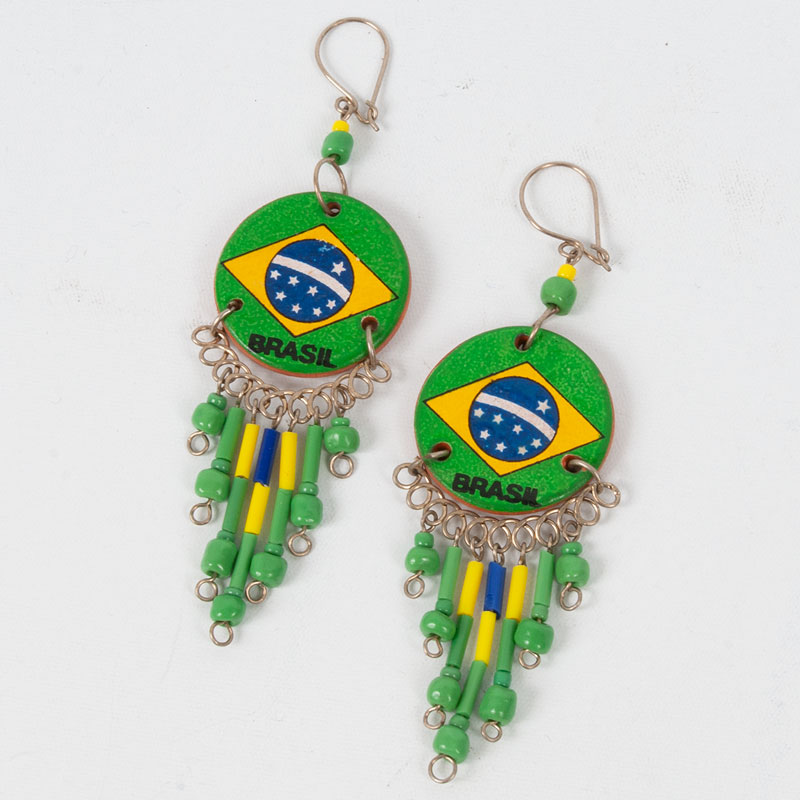 ブラジル国旗ネイティブピアス|サークル