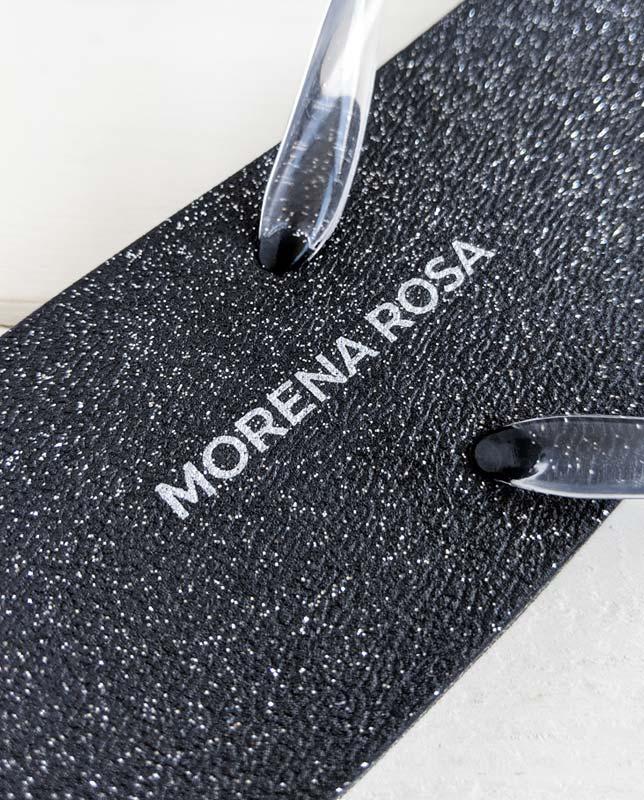 ■20%OFF■【Morena Rosa】ラメブラックビーチサンダル