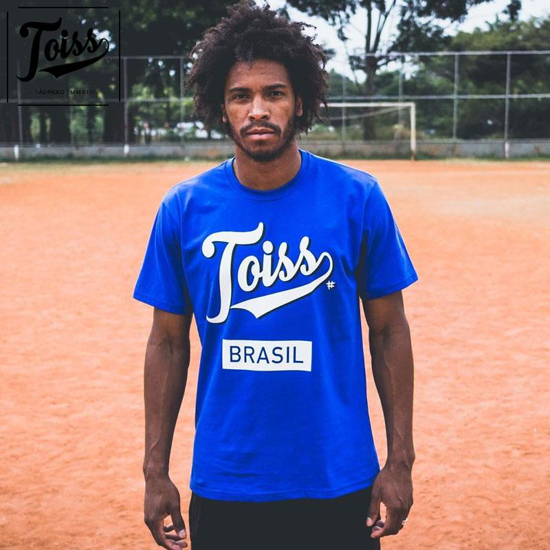 【TOISSリミテッド】トイスオリジナルロゴTシャツ BRASIL ネイマール愛用 ブルー
