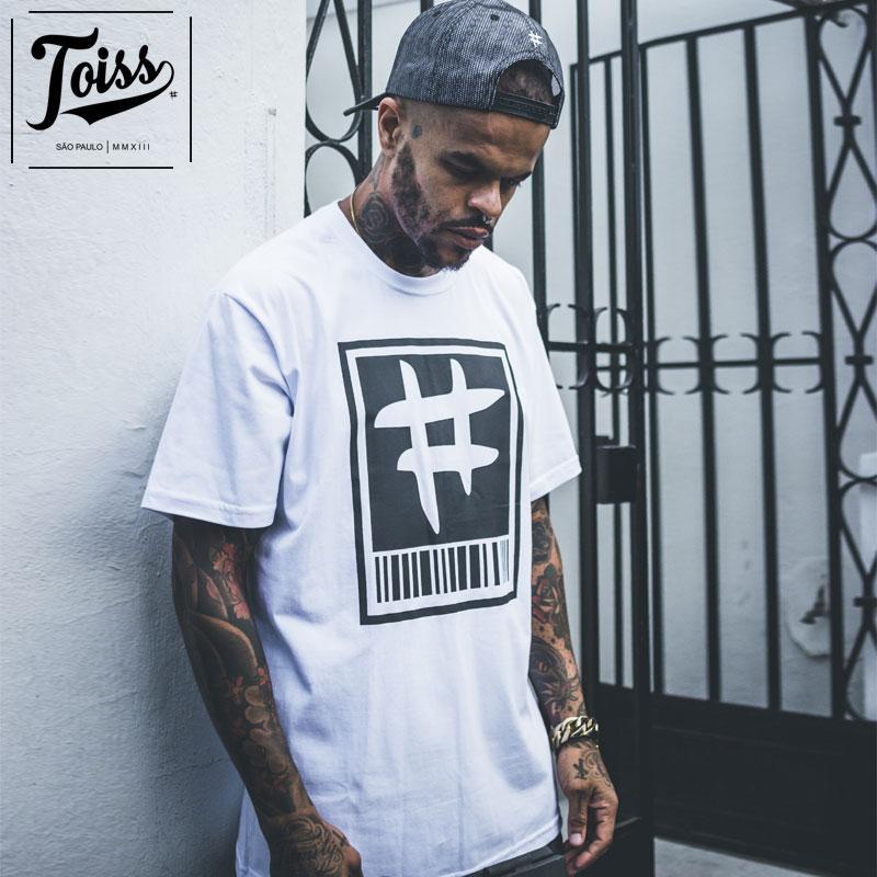 【TOISS】トイス#バーコードTシャツ ホワイト ネイマールブランド