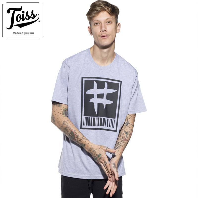 【TOISS】トイス#バーコードTシャツ グレー ネイマールブランド