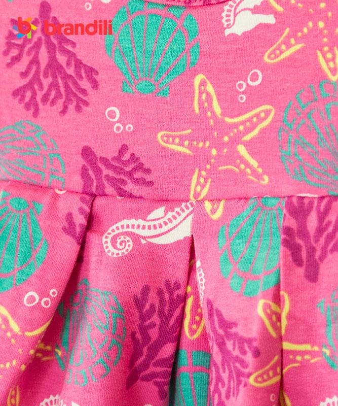 ■30%OFF■【BRANDILI】女の子ベビードレス【かわいい】海モチーフデザイン ピンク