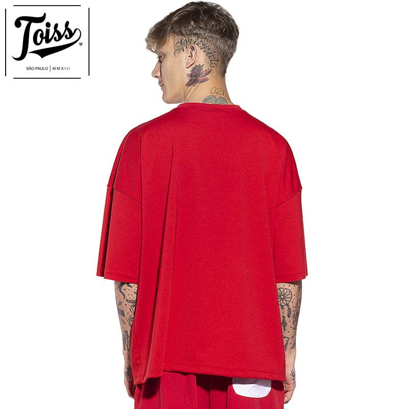 【toiss】トイスモレトン スウェットTシャツ レッド ネイマールブランド