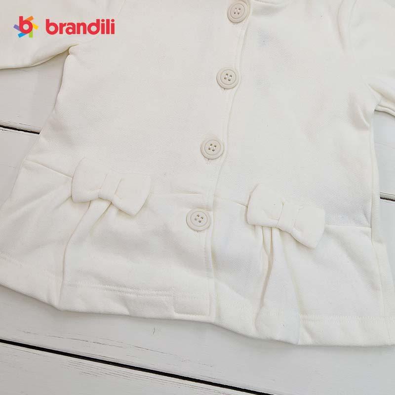 ■30%OFF■【BRANDILI】女の子フード付き長袖ジャケット&レギンスセット子供服・おしゃれ着|オフホワイト×グリーン