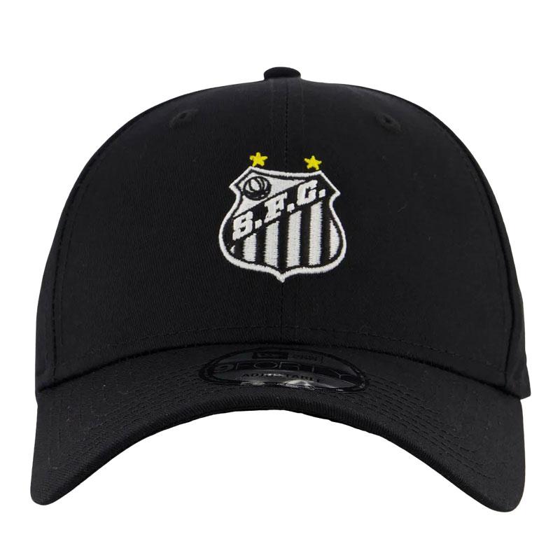 【SANTOS FC】サントス公式チームエンブレムキャップ【NEW ERA】   ブラック
