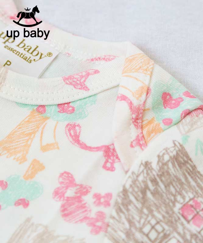 ■30%OFF■【UP BABY】女の子ベビーギフト3点セット【ベビー服・出産祝い・ギフトにぴったり】お絵かきプリント