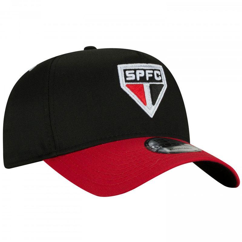 サンパウロFC公式チームエンブレムキャップ【SAO PAULO FC】NEW ERA ブラック×レッド