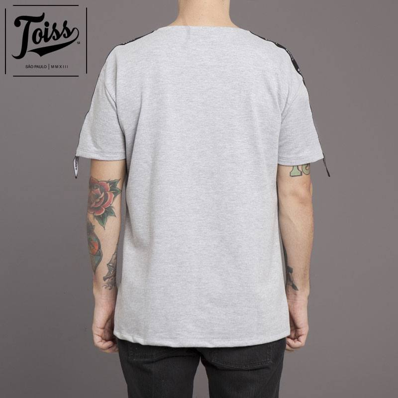 "【TOISS】トイスショルダーテープモレトンTシャツ""ELASTICO MANGA""スウェット生地   グレー"