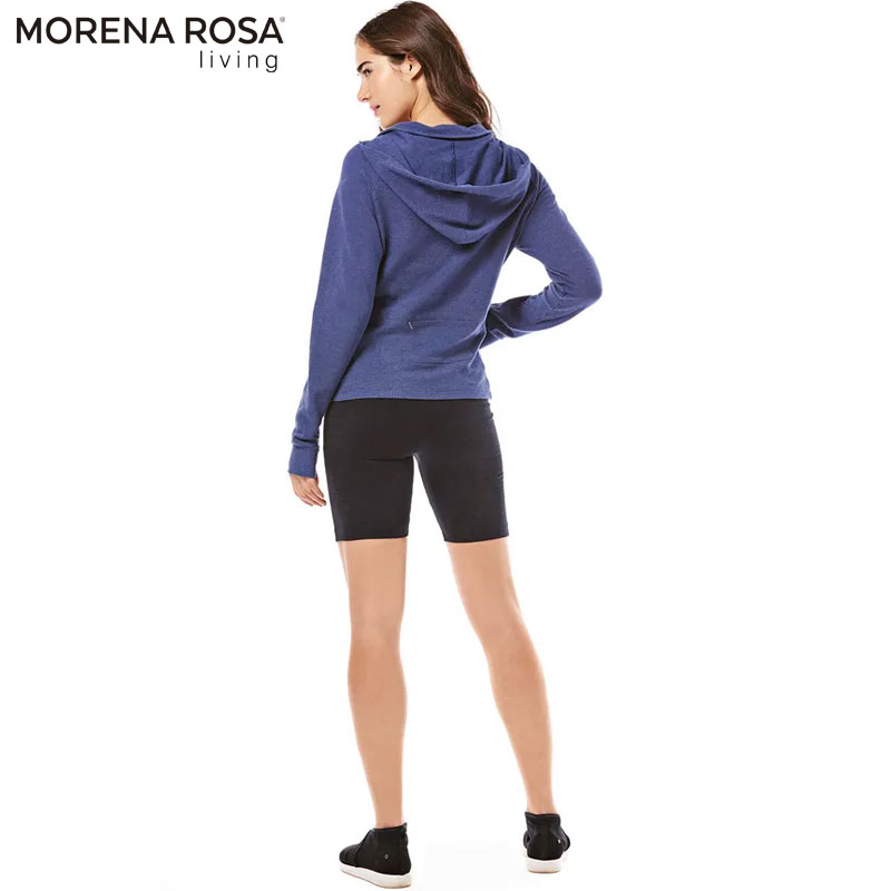 【Morena Rosa Living】フード付きロングスリーブトレーニングパーカー ポケット付き
