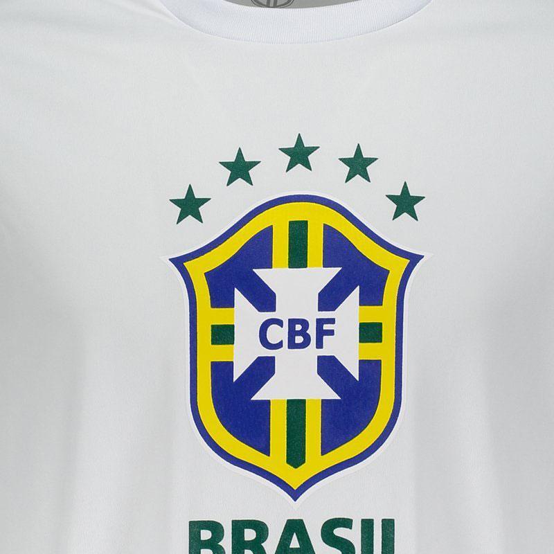 【ブラジル代表】CBF公式エンブレムTシャツ【BRASIL】   ホワイト