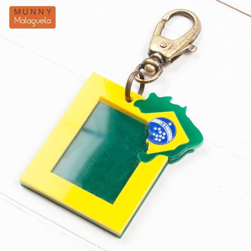 ブラジル国旗デザイン フォトフレーム型キーホルダー MUNNY by Malagueta