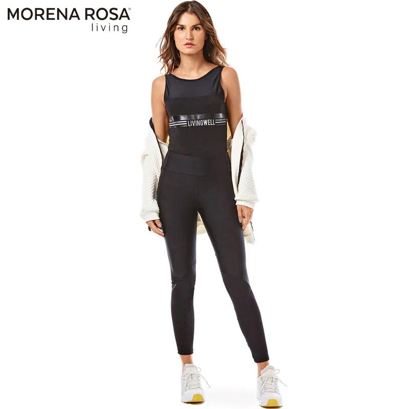 【Morena Rosa Living】華奢ラインレギンスパンツ ブラック