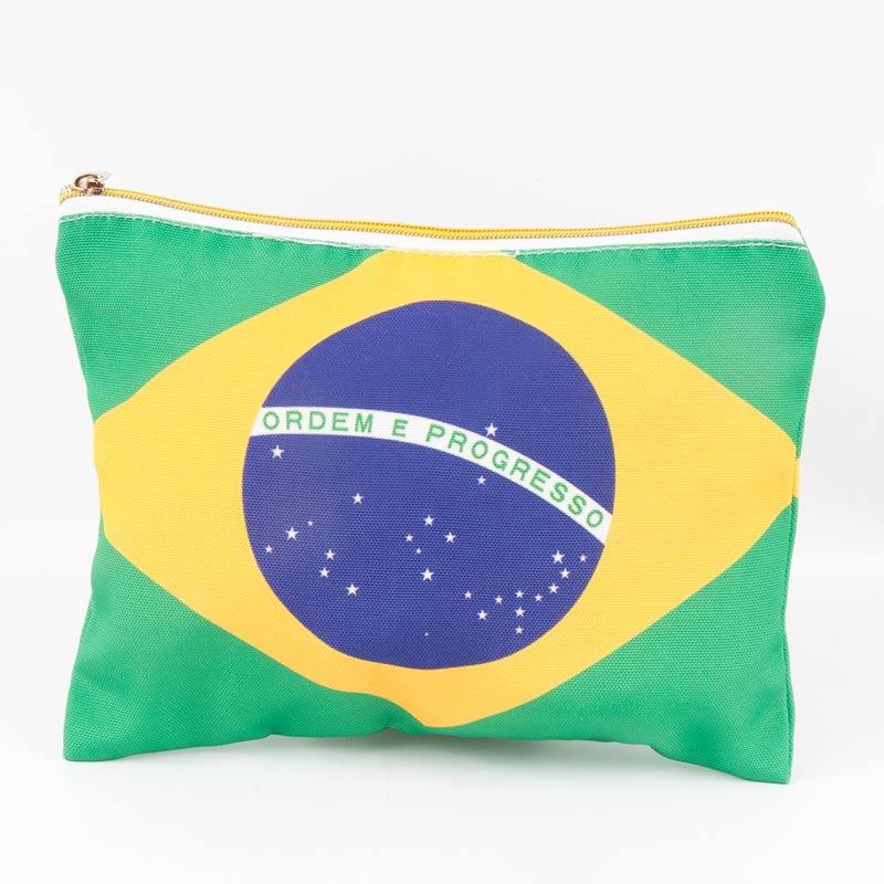 ブラジル国旗柄ポーチ 両面デザイン